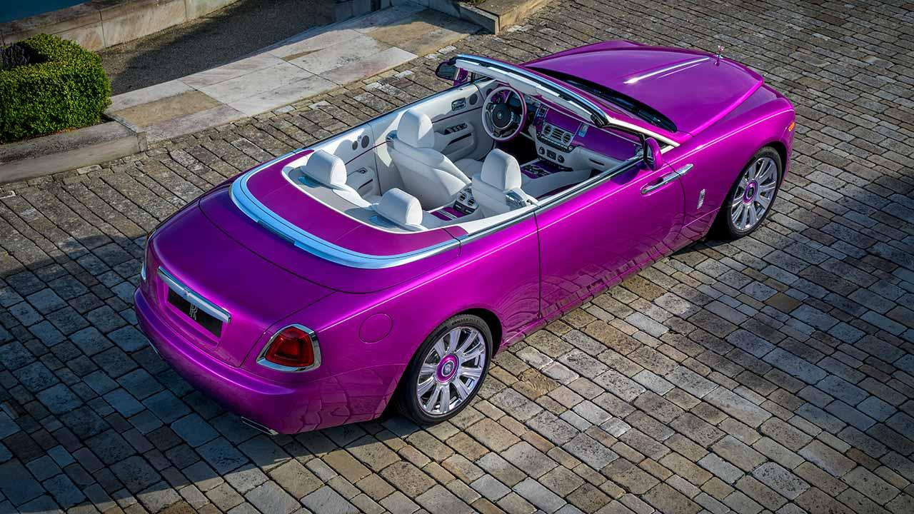 Rolls Royce Dawn Cabrio - Blick von Oben