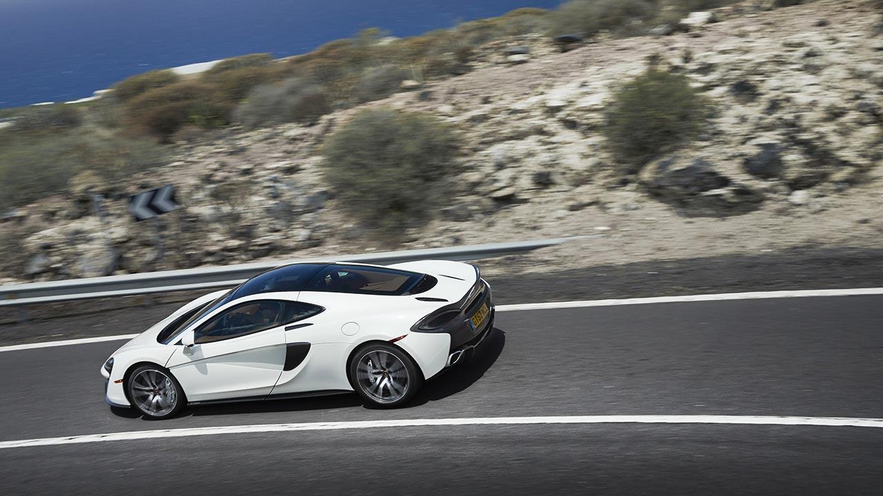 McLaren 570GT - aus der Vogelperspektive