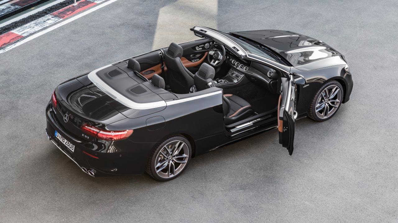 Mercedes-AMG E 53 4MATIC Cabrio - aus der Vogelperspektive