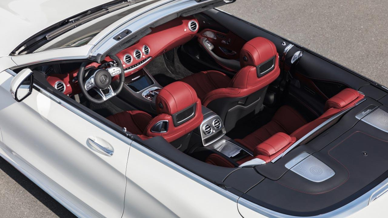 Mercedes-AMG S 63 4MATIC Cabrio - Blick aus der Vogelperspektive