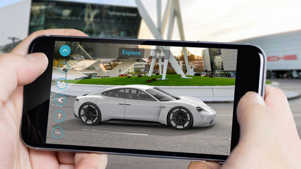 Porsche Taycan Misson E - App Steuerung