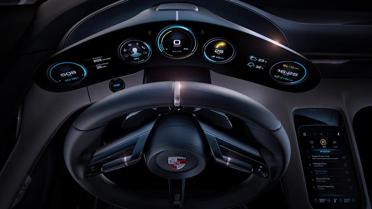 Porsche Taycan Misson E -  Lenkrad