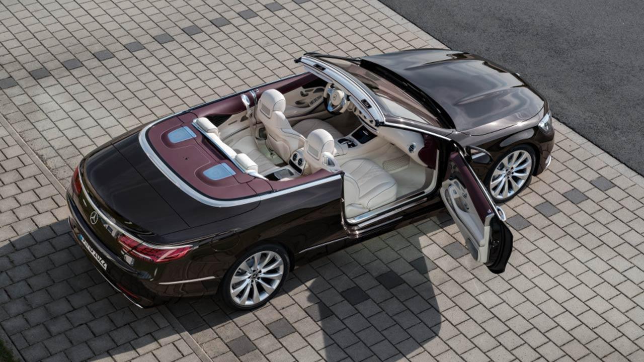 Mercedes-Benz S-Klasse Cabrio - mit offenem Verdeck