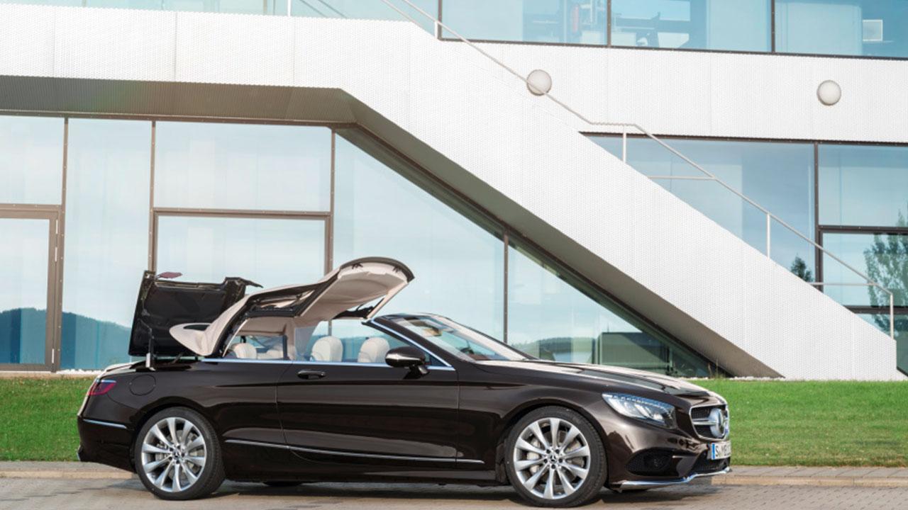 Mercedes-Benz S-Klasse Cabrio - beim Verdeck öffnen