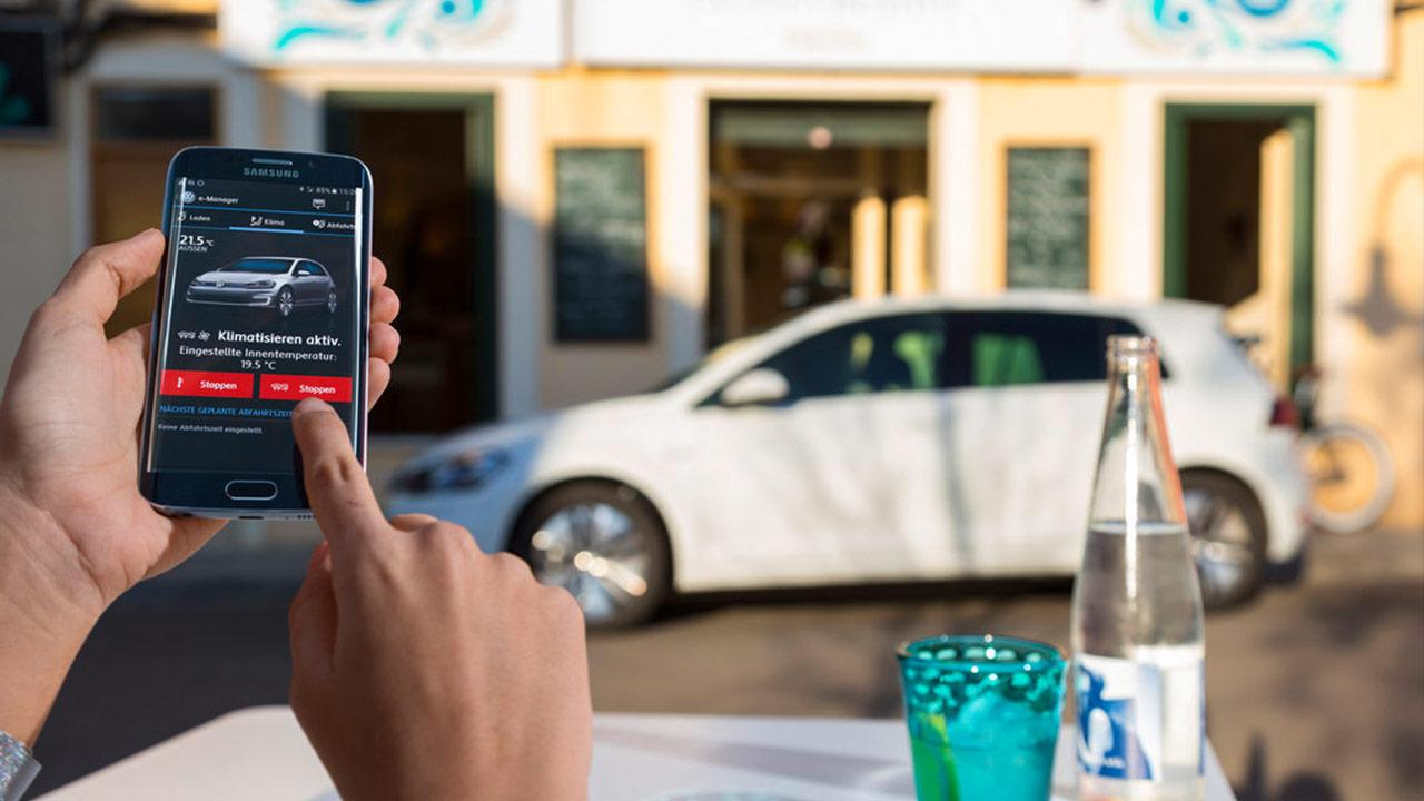 Volkswagen e-Golf - App Bedienung