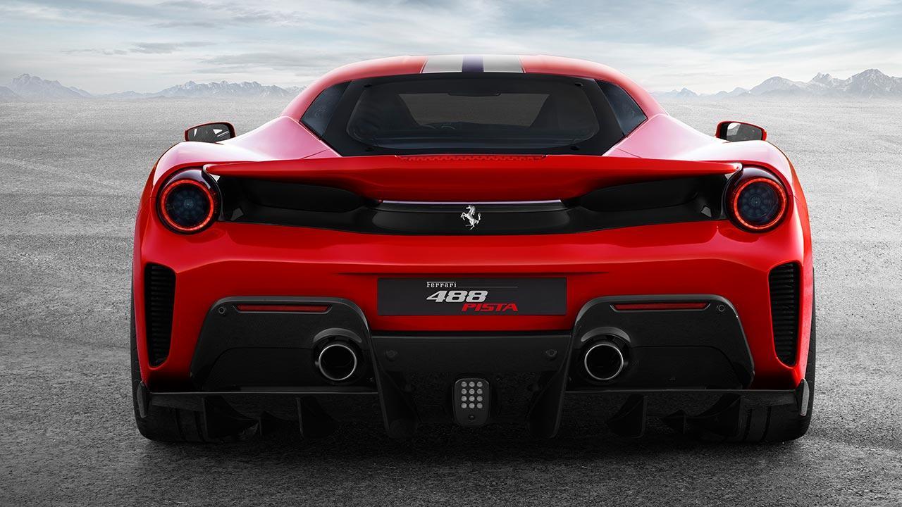 Ferrari 488 Pista - Heckansicht