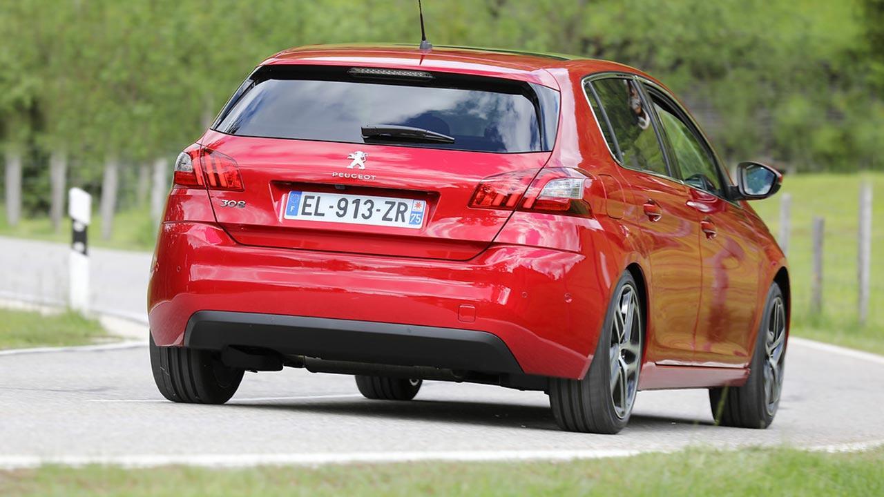 Peugeot 308 - Heckansicht
