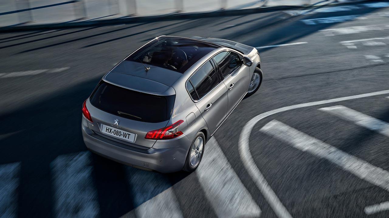 Peugeot 308 - Vogelperspektive