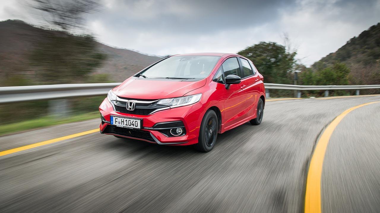 Honda Jazz - in voller Fahrt