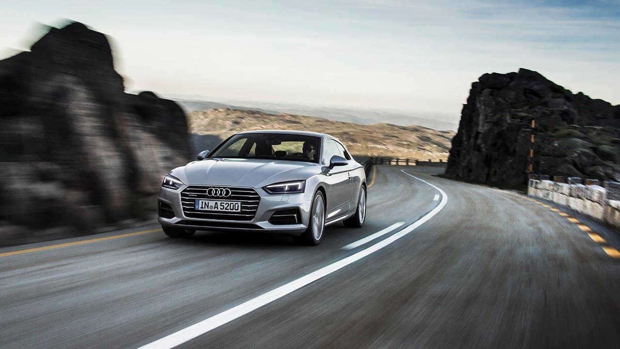 Audi A5 Coupè 2019 - in voller Fahrt