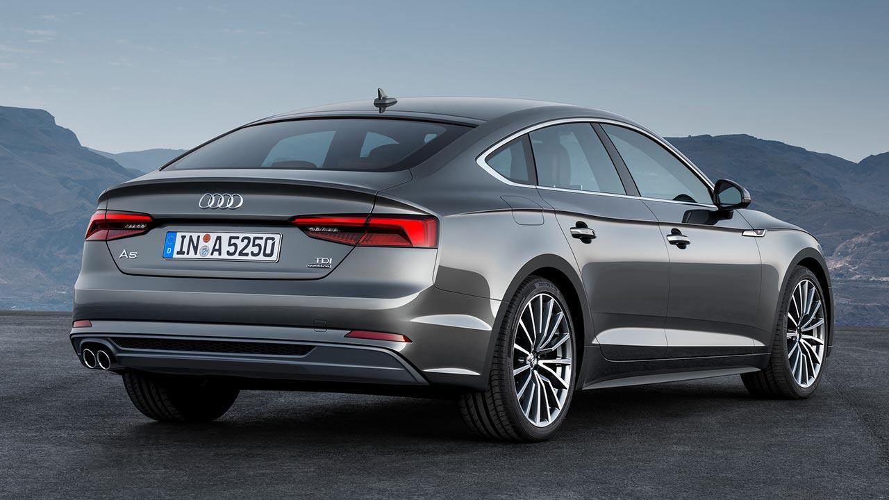 Audi A5 Sportback 2019 - seitliche Rückansicht