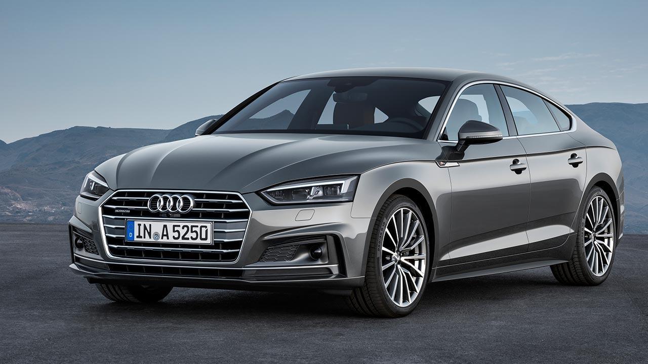 Audi A5 Sportback 2019 - seitliche Frontansicht