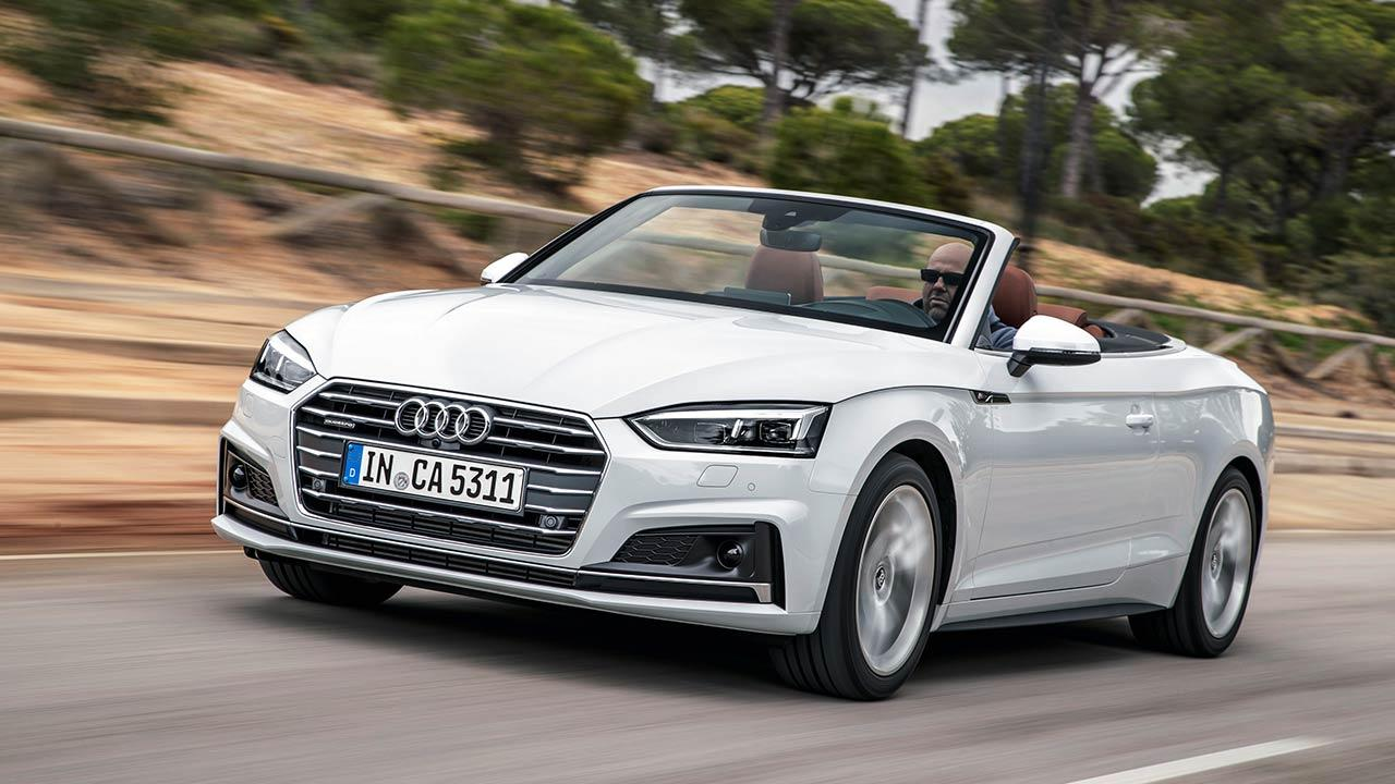 Audi A5 Cabriolet 2019 - in voller Fahrt