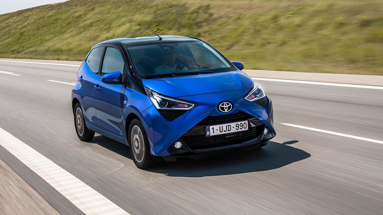 Toyota Aygo - in voller Fahrt