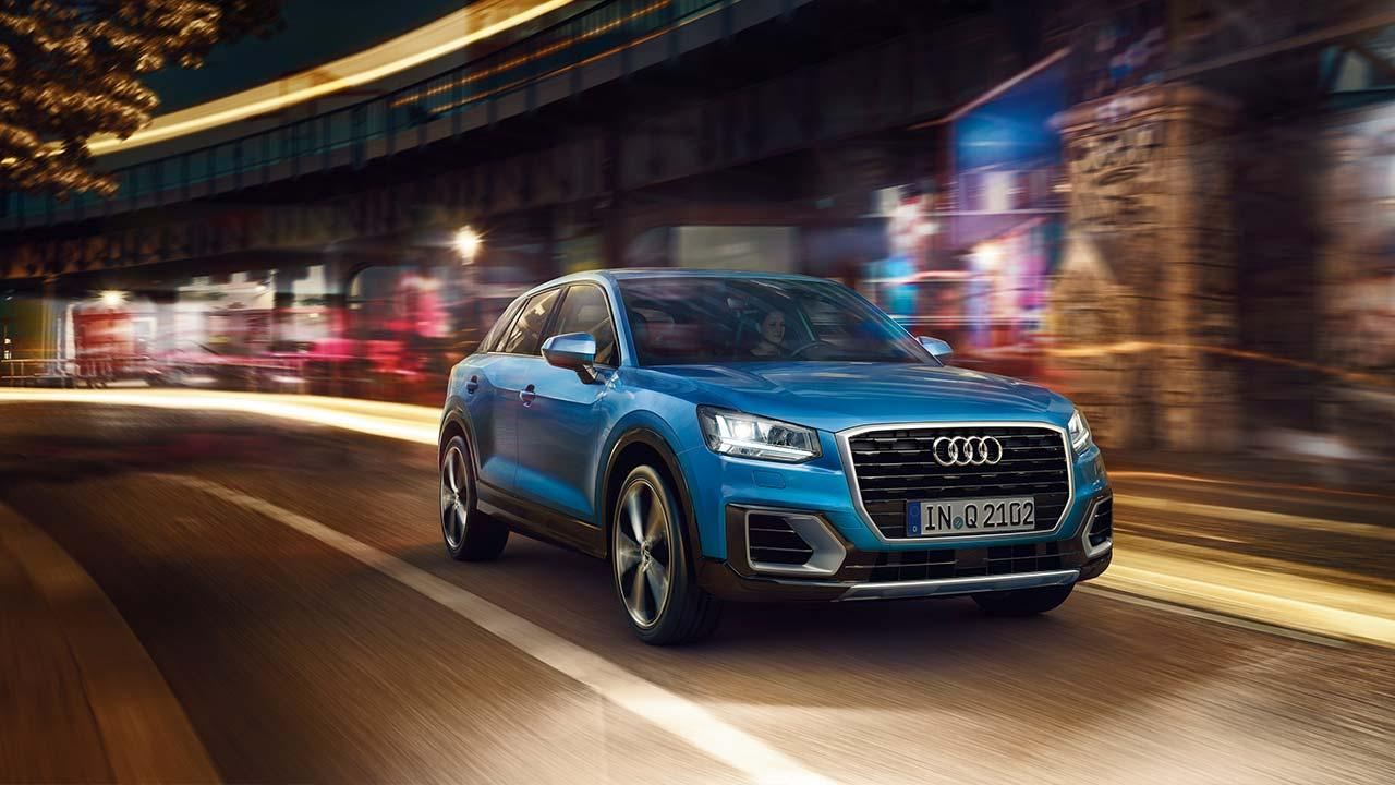 Audi Q2 - in voller Fahrt