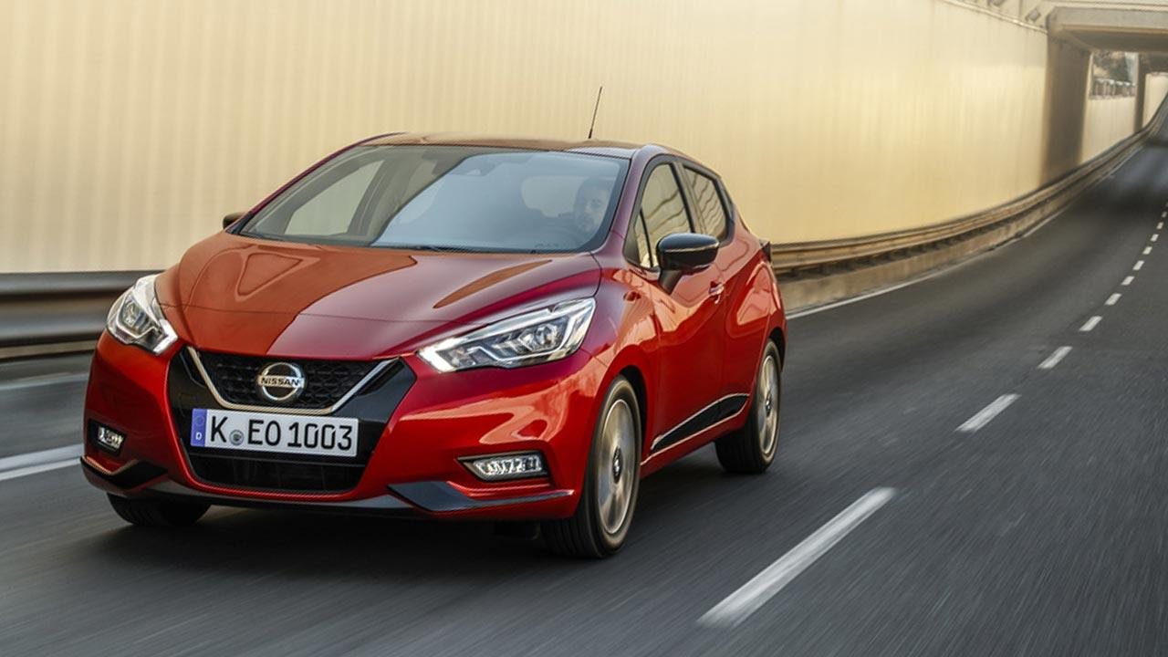 Nissan Micra - in voller Fahrt