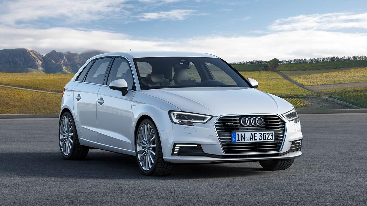 Audi A3 Sportback e-tron - seitliche Frontansicht