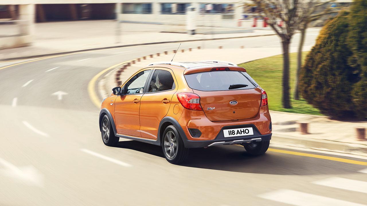 Ford Ka+ - Heckansicht in Orange