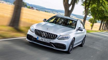 Mercedes-AMG C 63 S T-Modell - in voller Fahrt