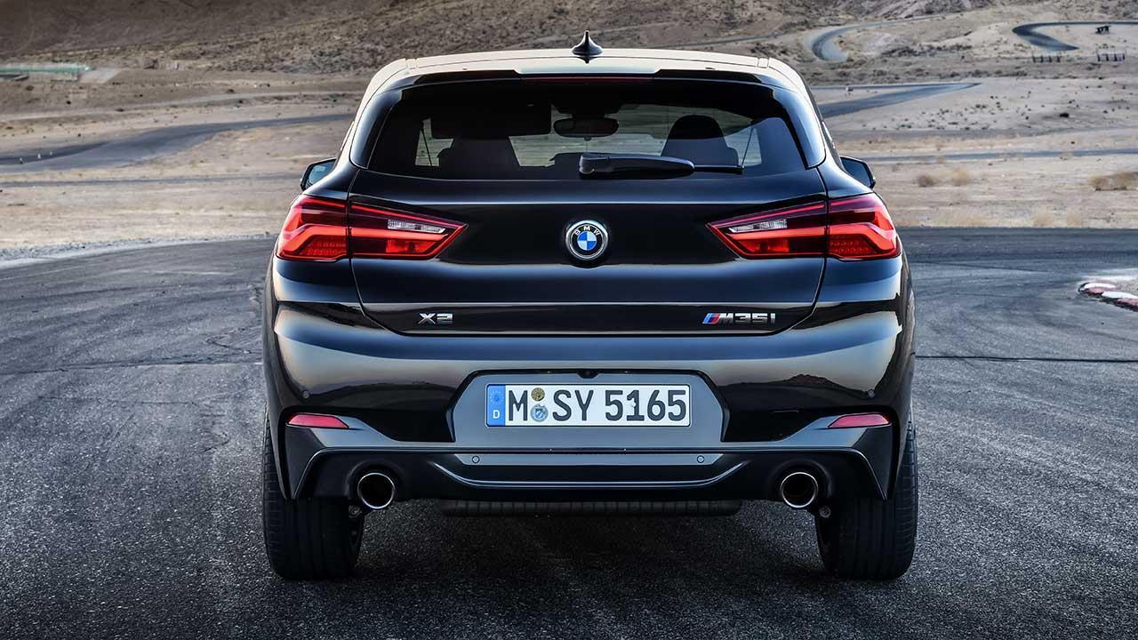 BMW X2 M35i - Heckansicht