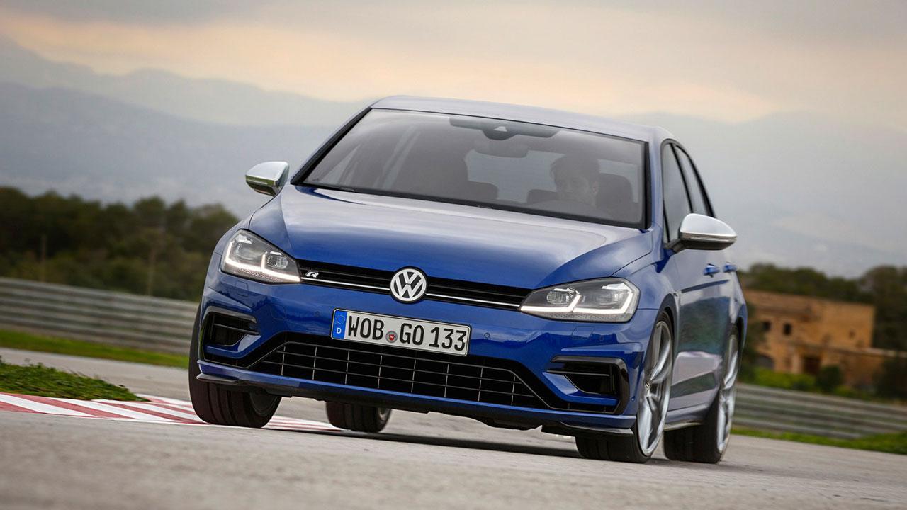 Volkswagen Golf VII R - in voller Fahrt
