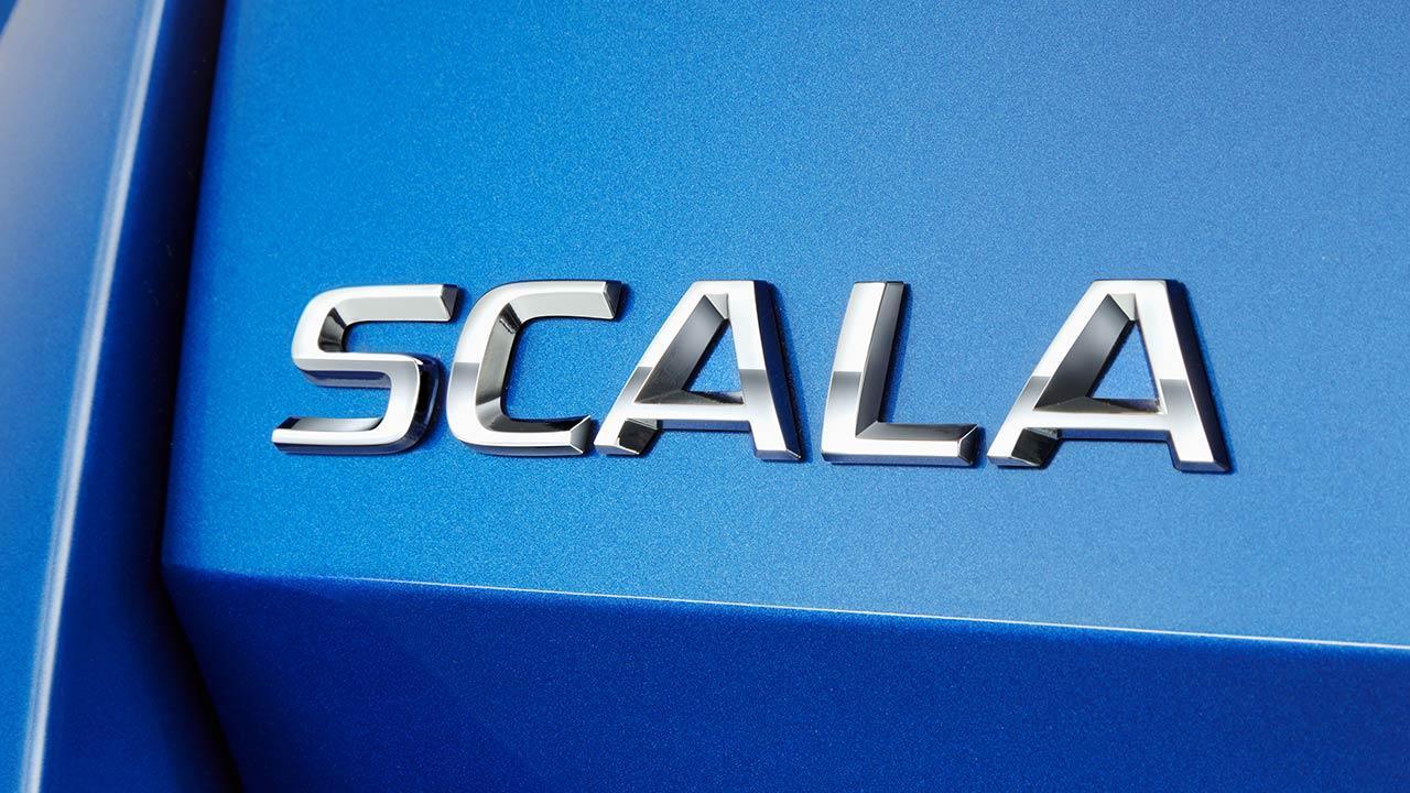 Skoda Scala - Schriftzug