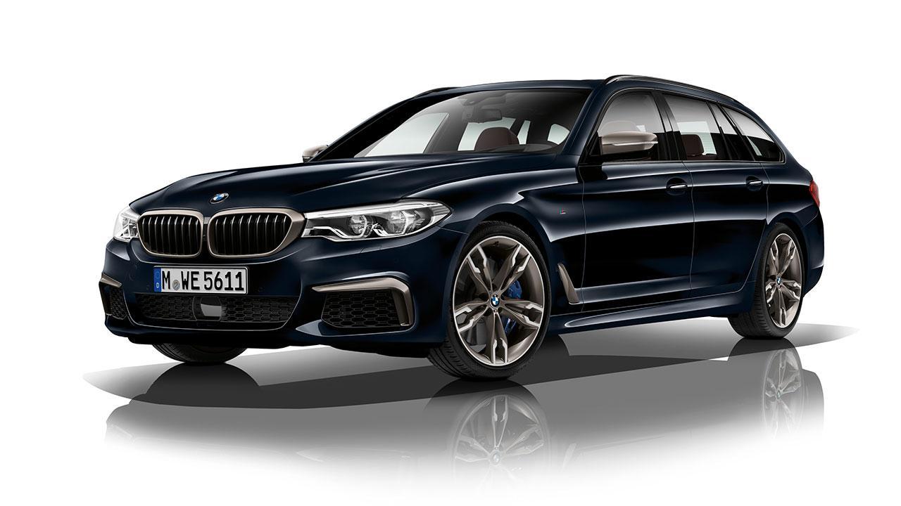 BMW M550d xDrive Touring - seitliche Frontansicht