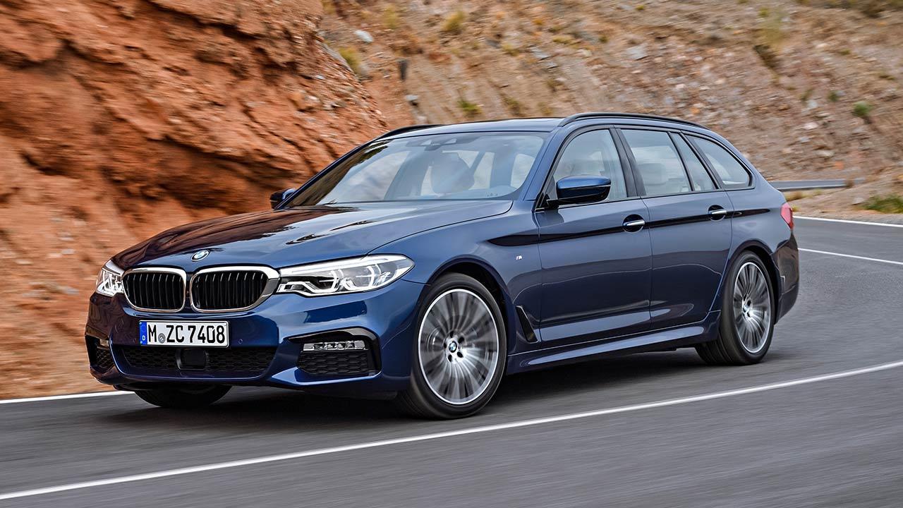 BMW 5er Touring - in voller Fahrt
