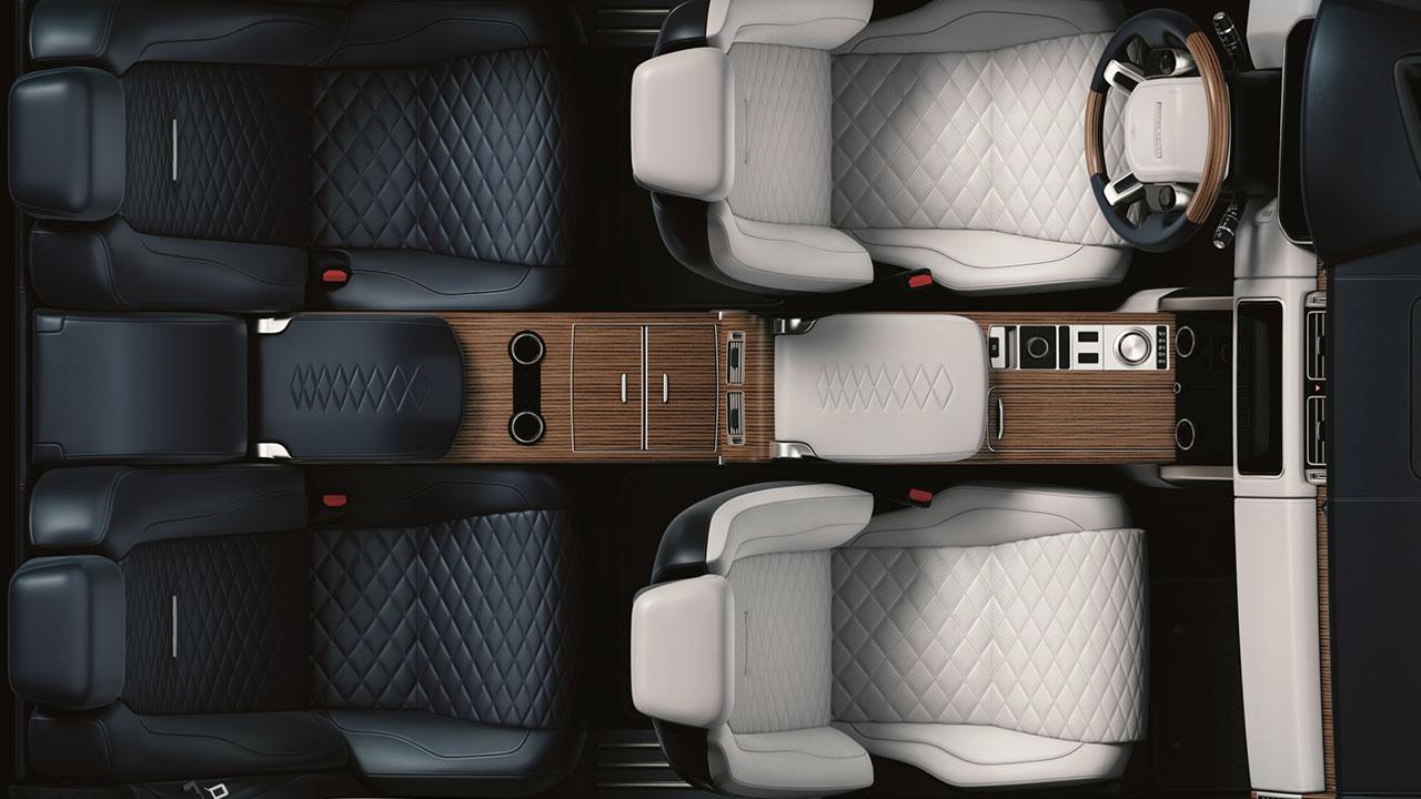 Range Rover - Innenraum von oben