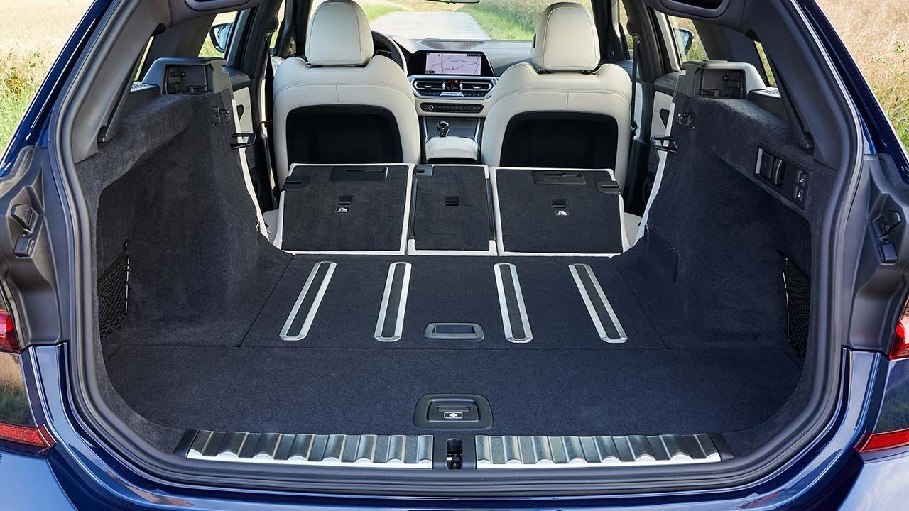 BMW 3er Touring - Kofferraum mit umgelegten Sitzen