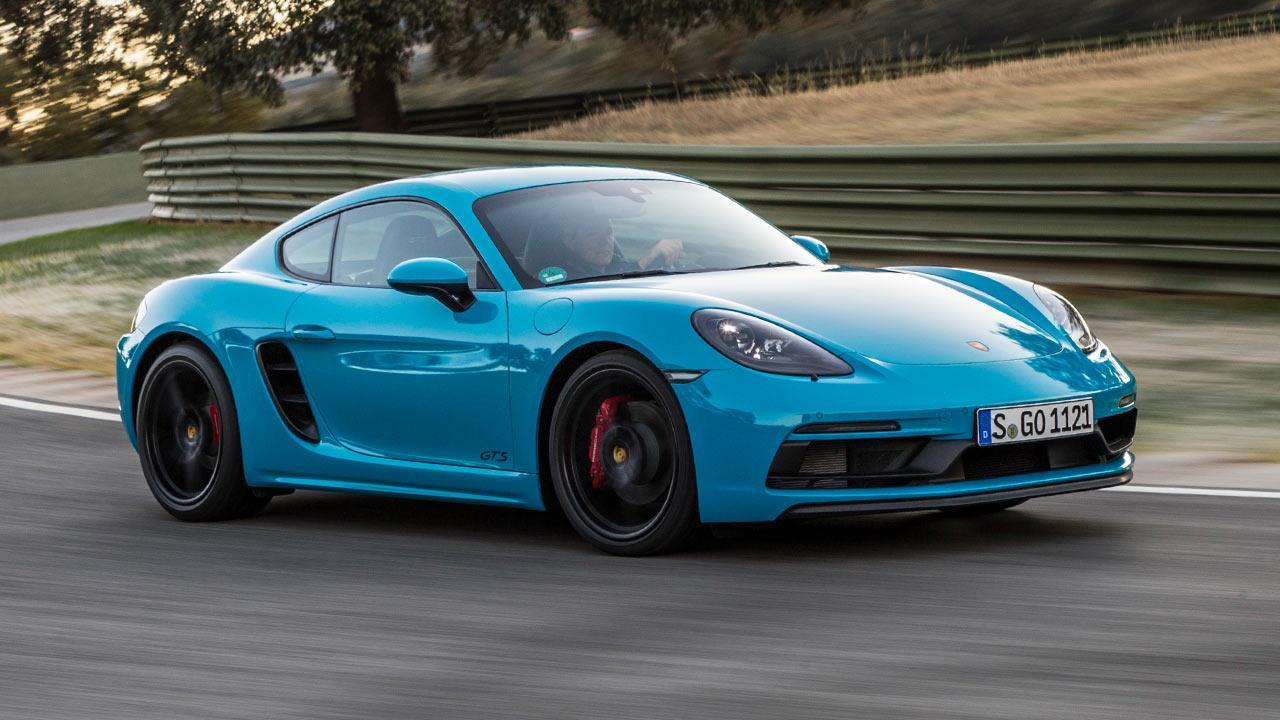 Porsche Cayman GTS - in voller Fahrt