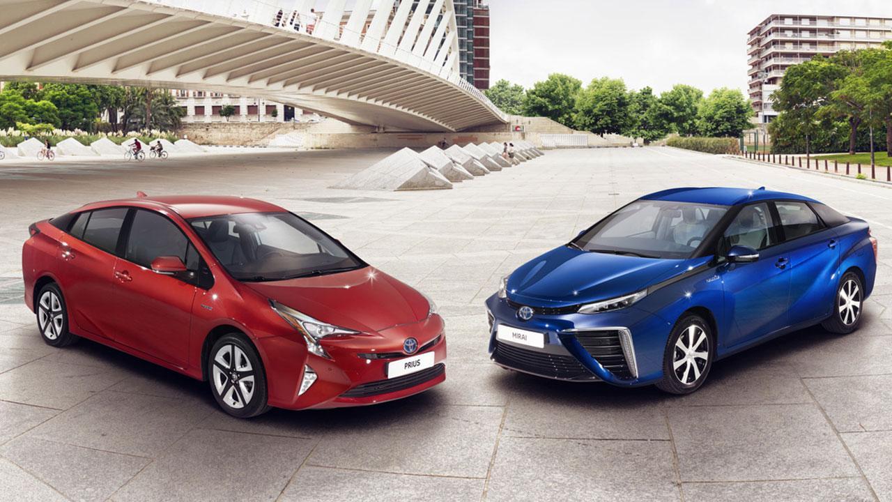 Toyota Prius - zwei Farben