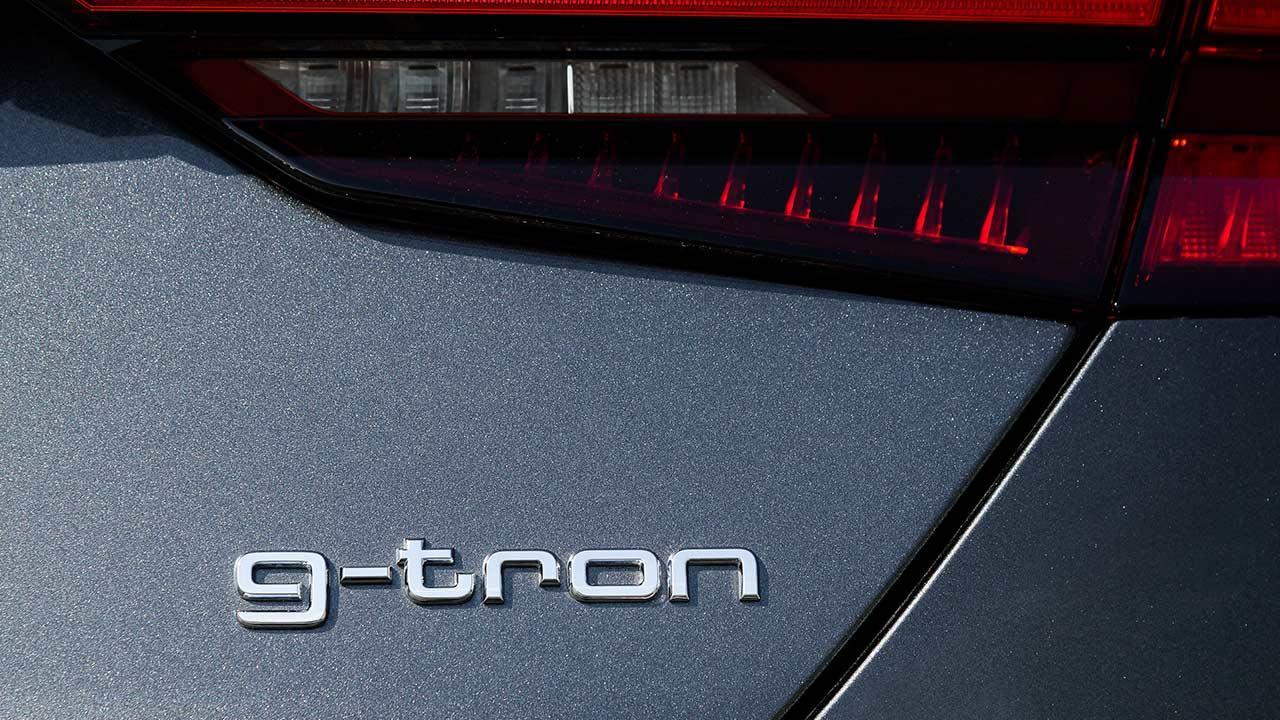 Audi A5 Sportback g-tron - Schriftzug
