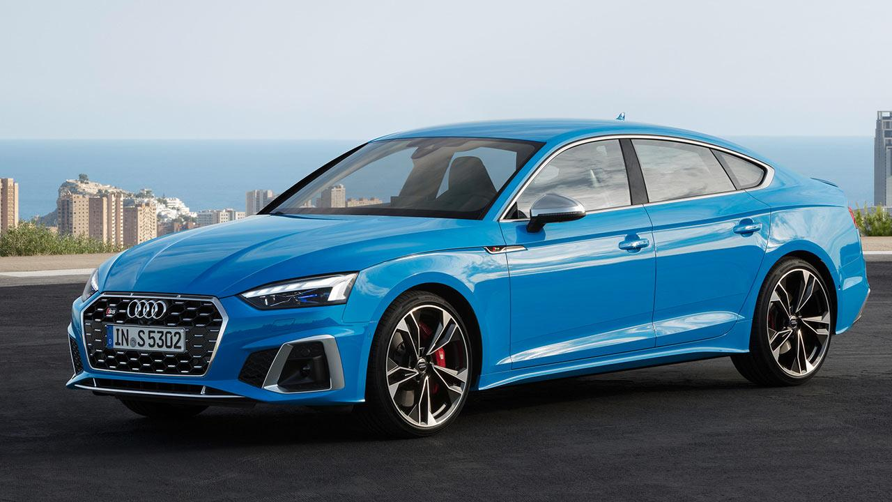 Audi S5 Sportback - seitliche Frontansicht