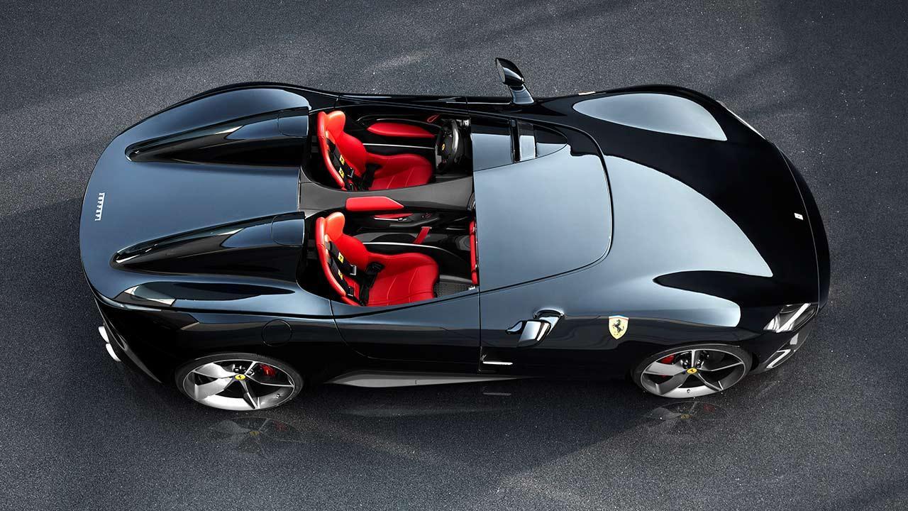 Ferrari Monza SP2 - aus der Vogelperspektive